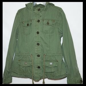 Justice Girl's Army Green Jacket Size 16